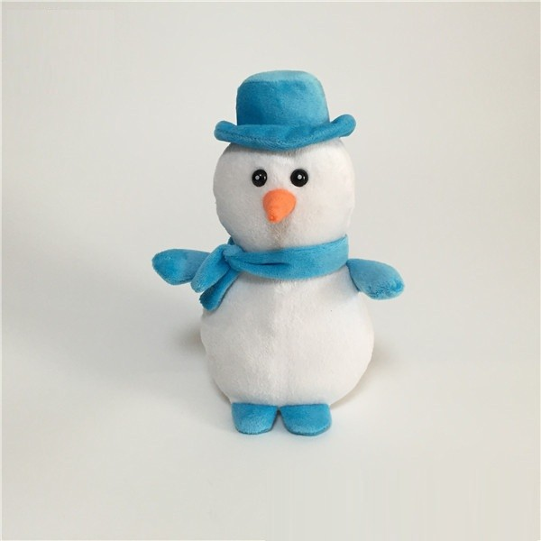 Christmas Snowman with Blue Hat Scarf